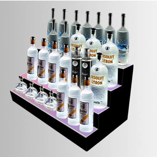 China Acrylic Lightbox Counter Top Display Shelf for Bottles, POS Display Merchandiser
