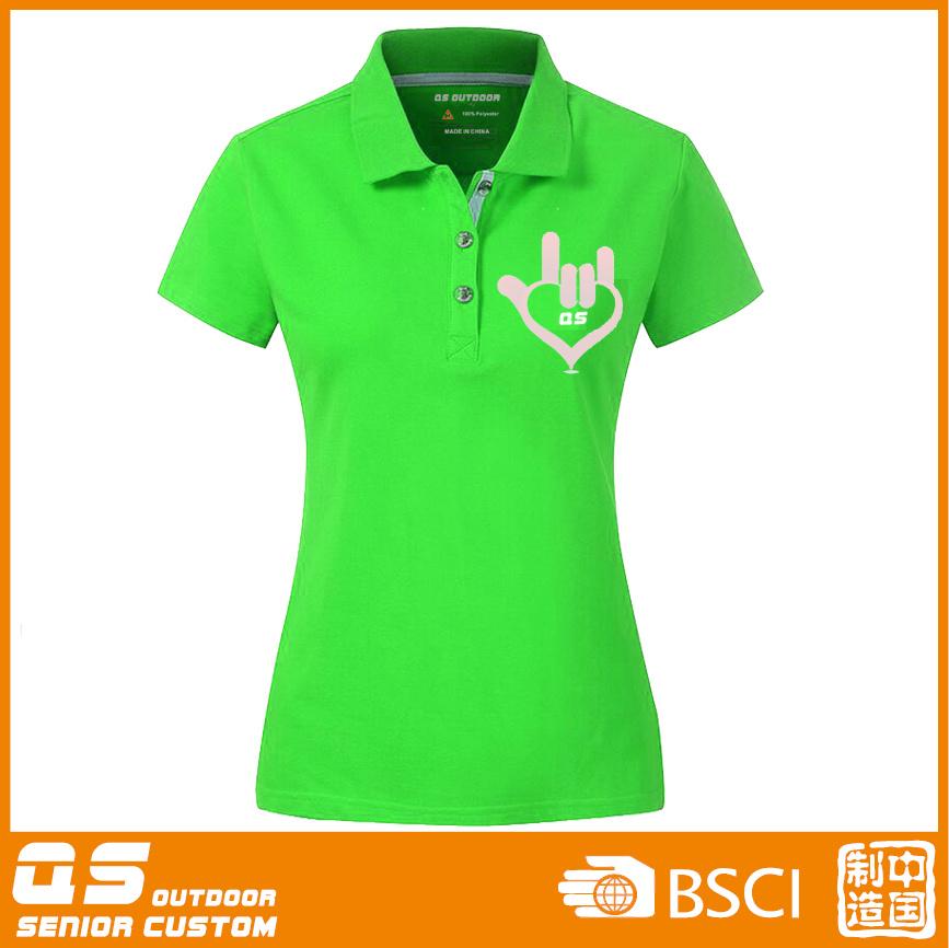 Women′s Polo Sport Fitting T-Shirt