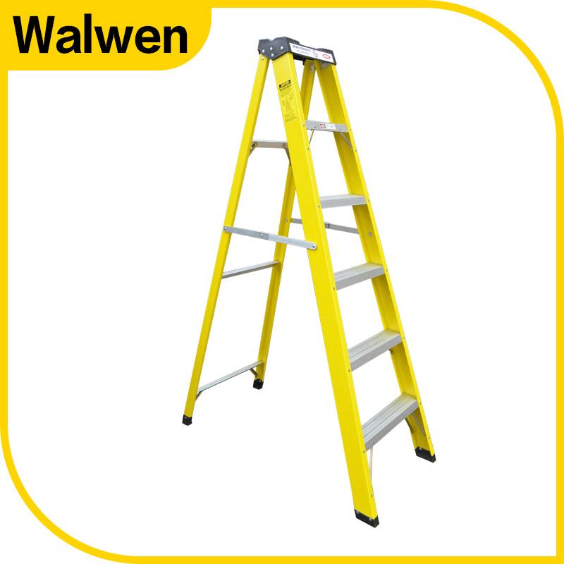 A Shape Double Side Folding Movable FRP Step Ladder