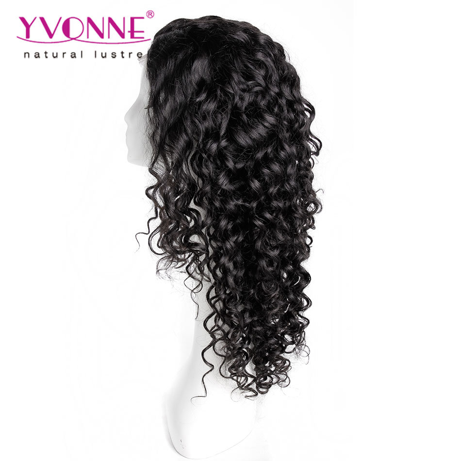 Fashion Natural Black Peruvian Human Hair Lace Wig