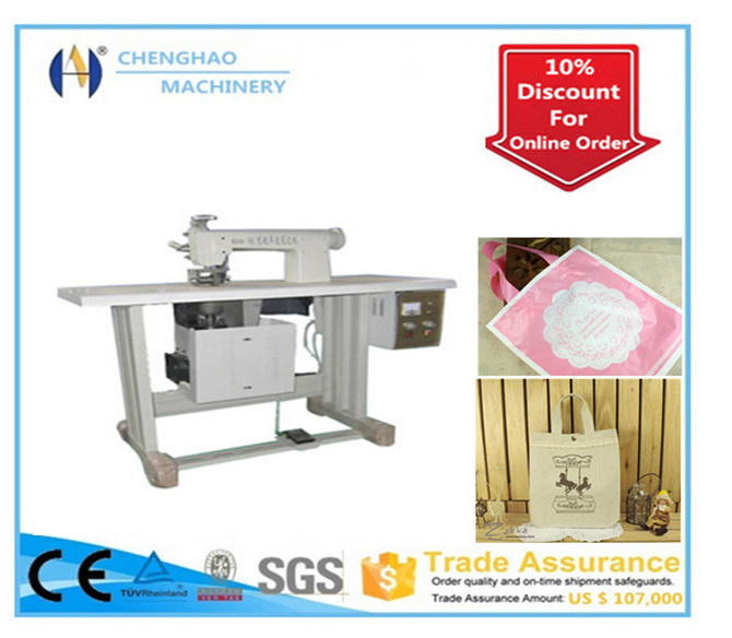 Sold in Europe - Ultrasonic Semi Automatic Non-Woven Non-Woven Bag Machine, Sewing Machine, Ce Certification