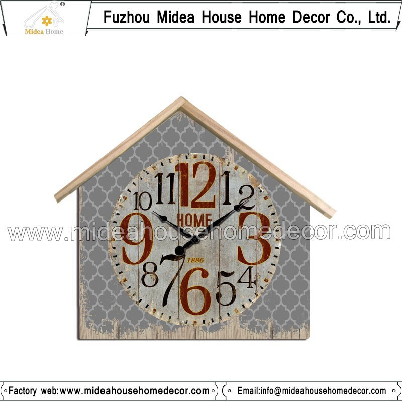 House Shape Wall Clocks Wholesale