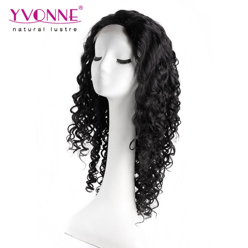 Fashion Natural Black Peruvian Human Hair Lace Wig