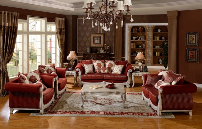 American Classic Fabric Sofa Living Room Furniture Set