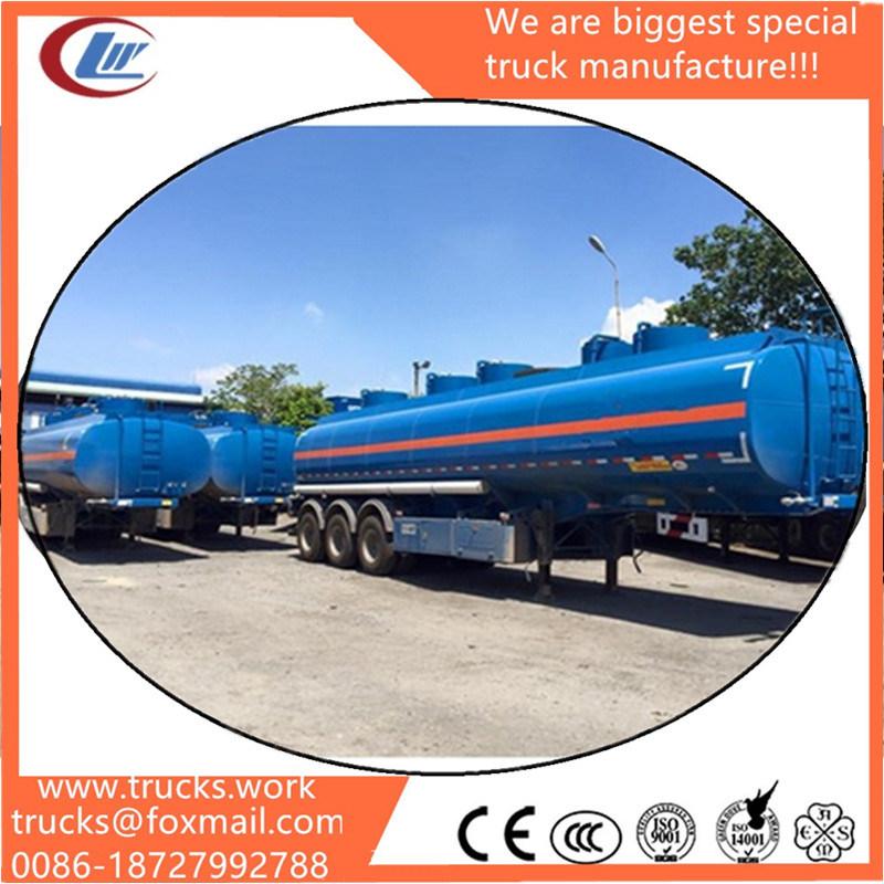 3 Axle Oil Tanker Trailers 40000 Liters Fuel Tank Semi Trailer Gasoline Transport Tank Trailer