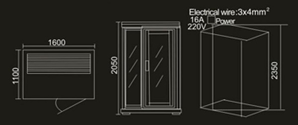 Solid Wood Sauna Room (AT-8625)
