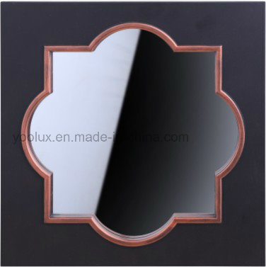 Loft Style Plastic Middle Size Round Home Decorative Wall Mirror
