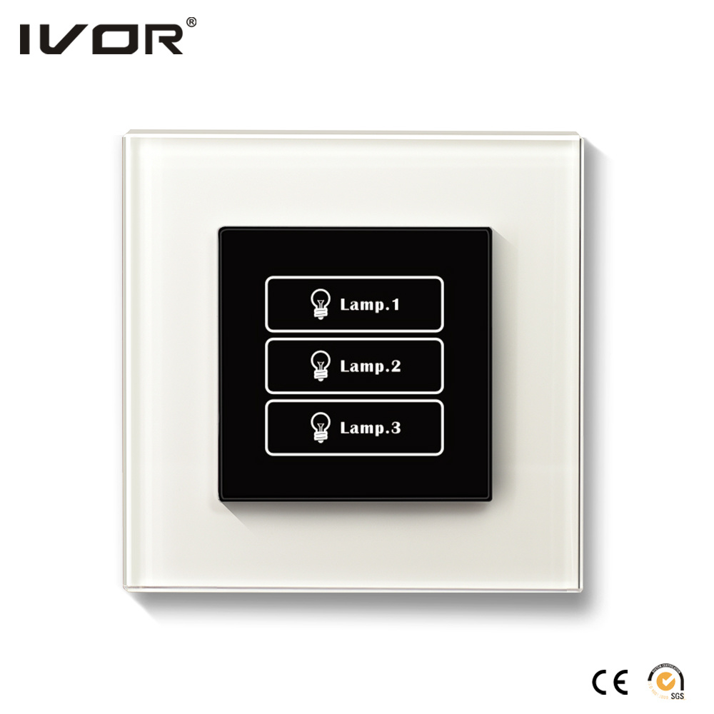 3 Gangs Lighting Switch Touch Panel Stainless Steel Outline Frame (AXL-ST-L3)