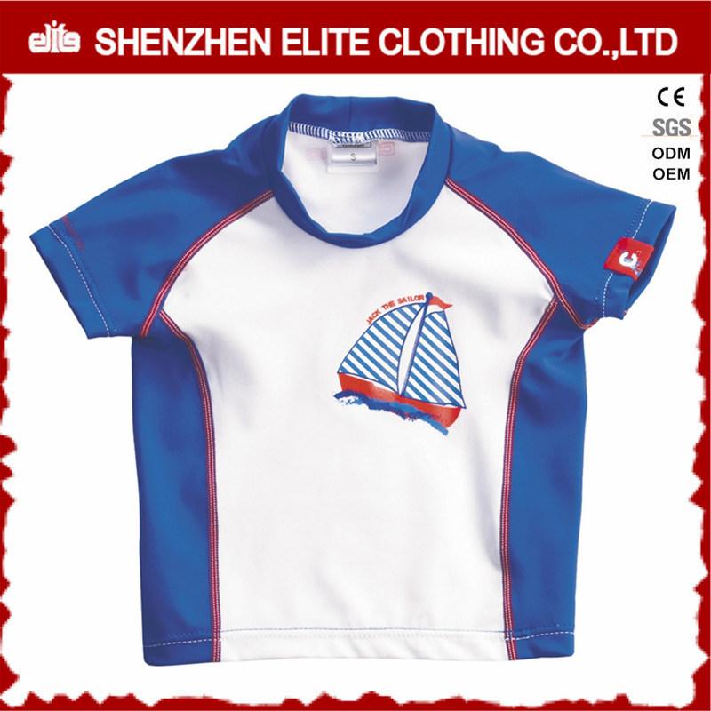 Short Sleeve Breathable Nylon Children Rash Guard Swimwear (ELTRGJ-299)
