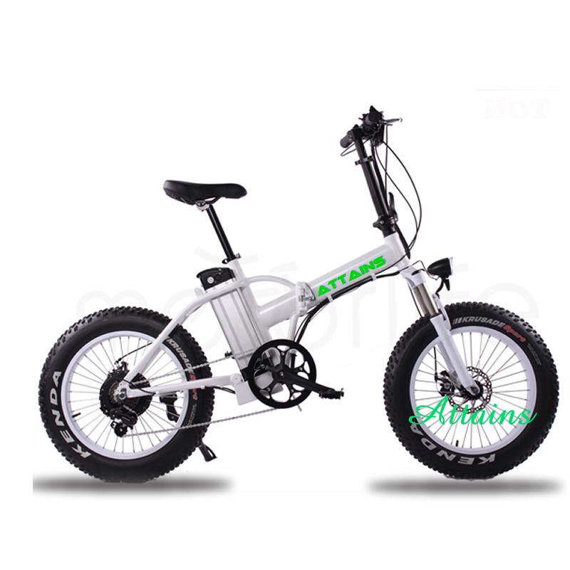 48V 500W 20′′ Foldable E Bike Folding Fat Tire Beach Snow Electric Bike