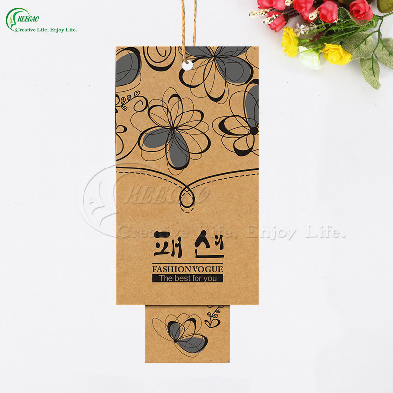 Kraft Paper Clothing Label Tag Manufacturer (KG-PA035)