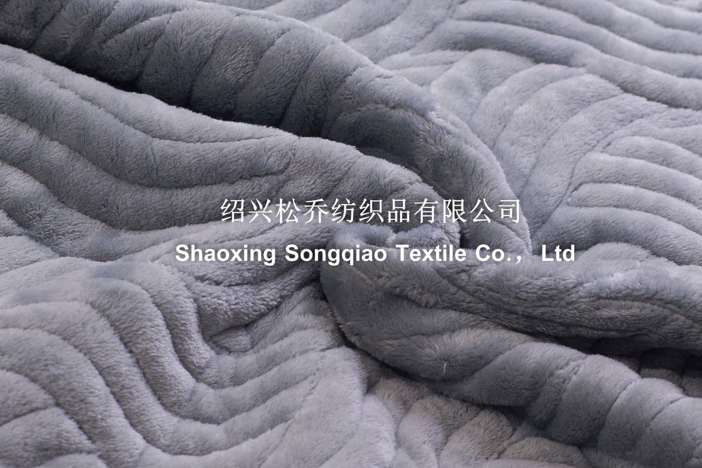 3 in 1 Embroidered Coral Fleece Blanket /Double Heavy Fleece Blanket