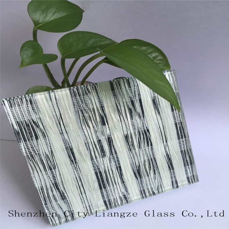 5mm+Double-Silk+5mm Customized Art Glass/Tempered Laminated Glass/Safety Glass/ for Decoration