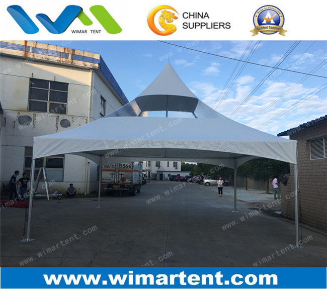 20X20′ Pinnacle Tent with White and Partial Clear Roof for Sale
