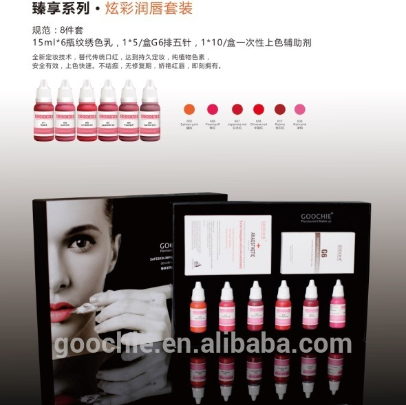 Goochie Permanent Make up Lip Tattoo Pigment Kit