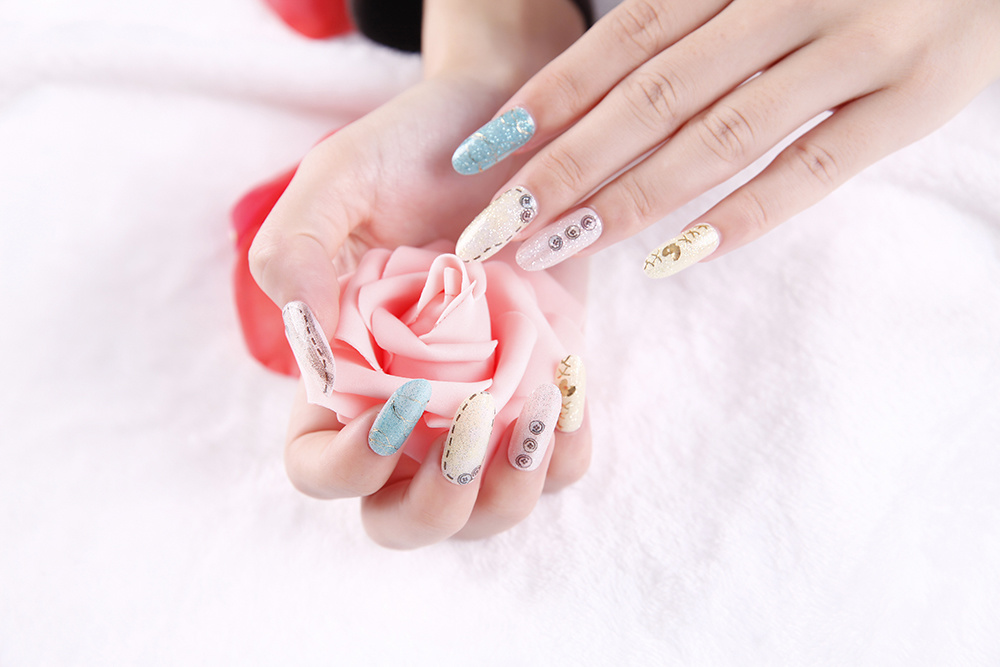 Fashion Colorful Temporary Water Transfer Nail Sticker Art Sticker