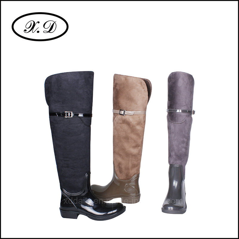 Fashion Rain Woman Boots with High Upper