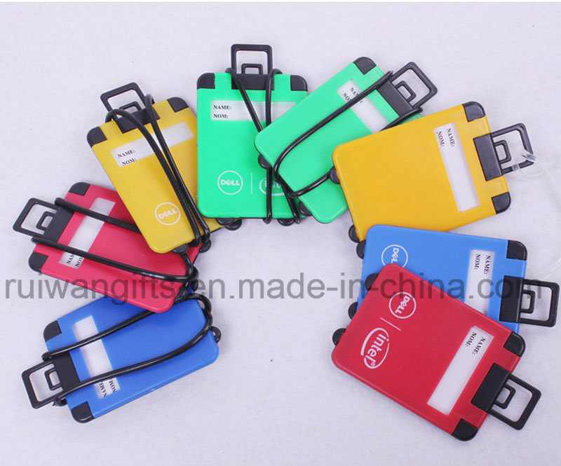 Round Luggage Tag, Colorful Plastic Luggage Tag for Promotional Gifts