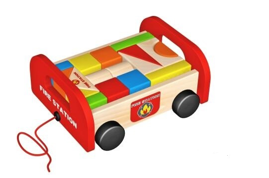 New Fashion Wooden Blocks Pull Along Toy for Kids and Children