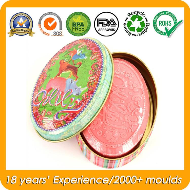 Oval Gift Soap Tin Box
