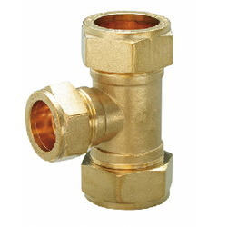 Brass Fitting, Tee, Elbow, Nut, Cap, Available in Various Sizes, Pipe Fittings