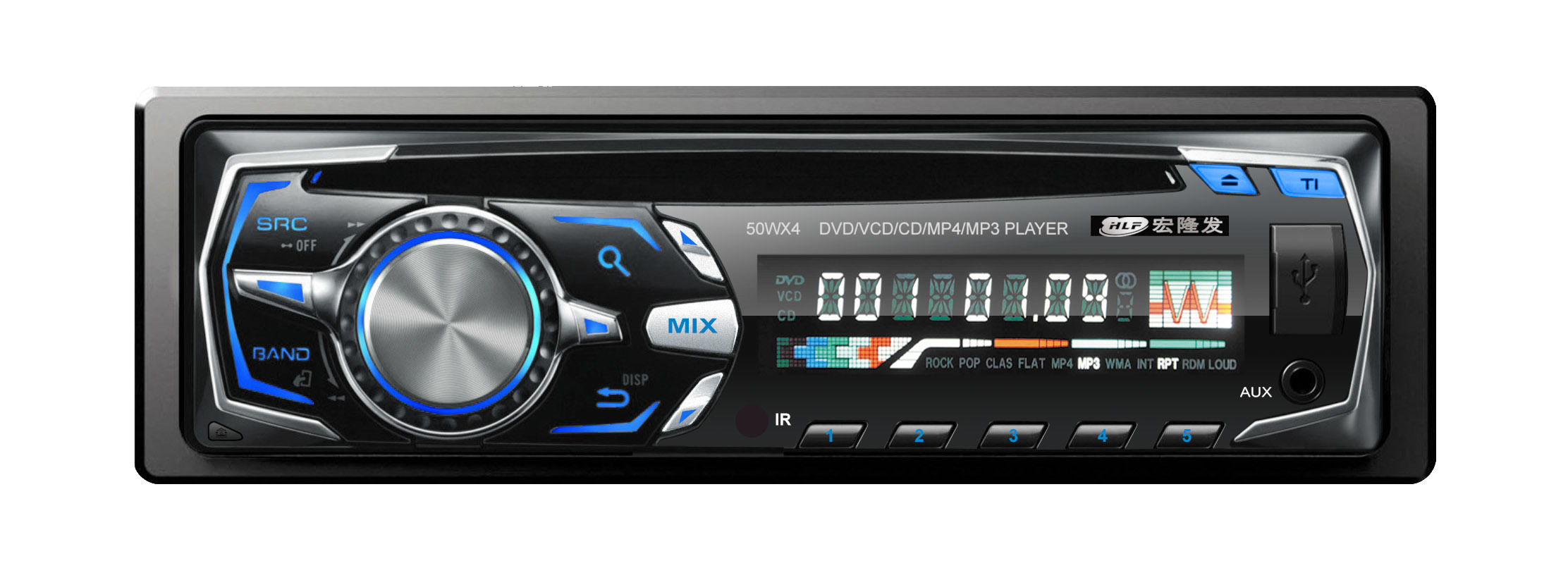 Single DIN Detachable Panel Car RDS Bluetooth MP3 MP4 with FM Transmitter