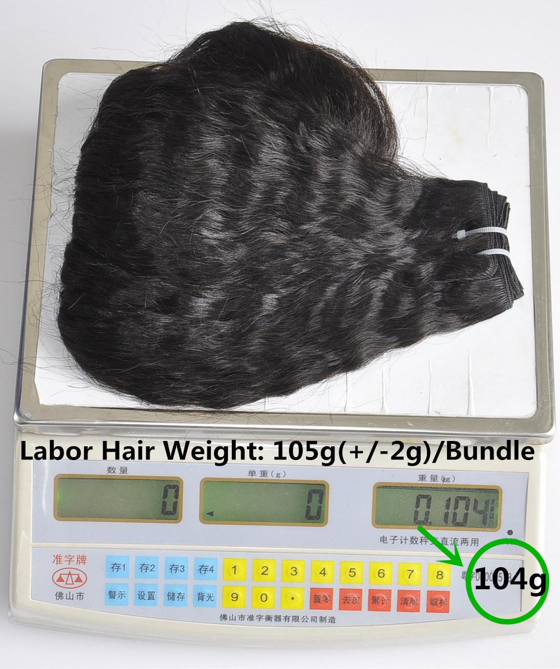Labor Hair Products Brazilian Hair Weave Bundles Kinky Straight Virgin Hair 105g, Top Human Hair Extension Bundles