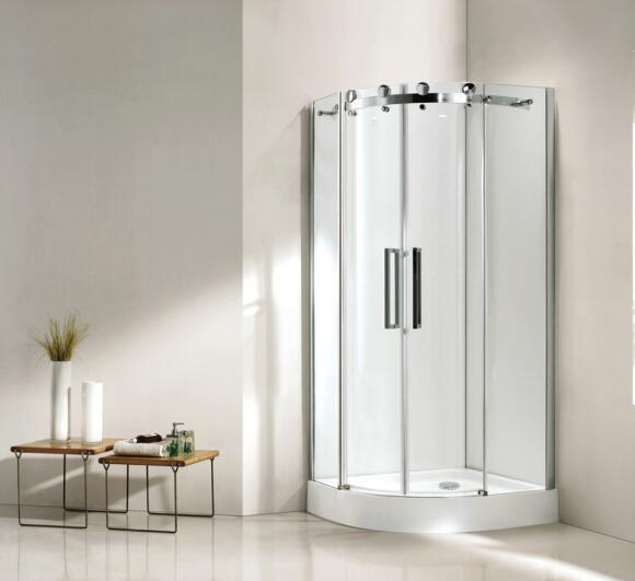 Bathroom 8mm Glass Big Roller Quadrant Shower Enclosure (BN-BRQD90)
