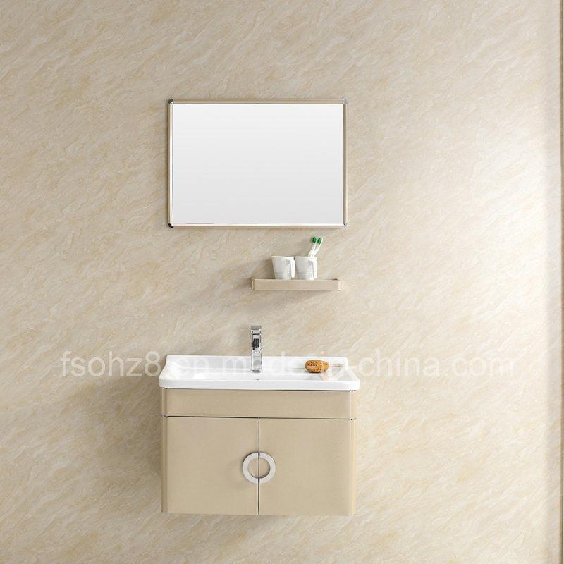 Modern Stainless Steel Bathroom Mirror Vanity Cabinet with Shelf