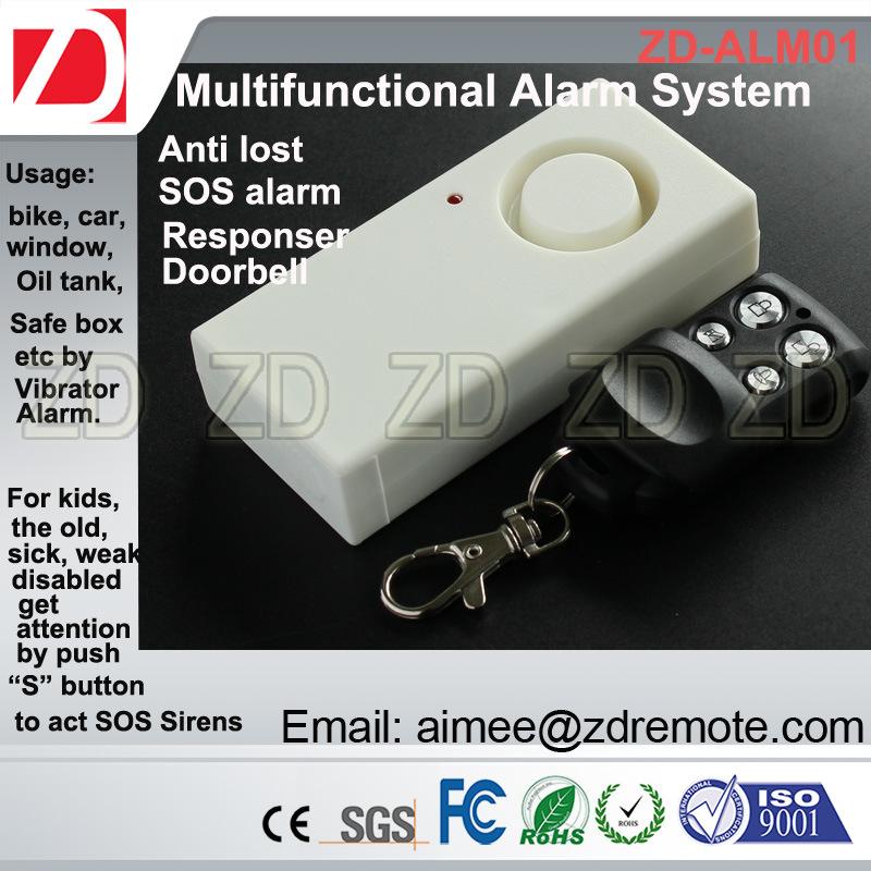 RF Remote Vibration Sensor Alarm System