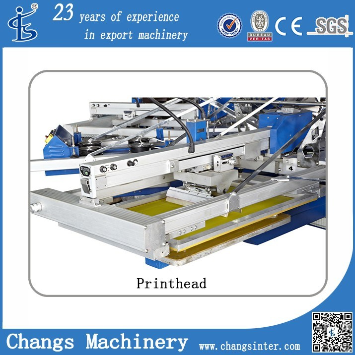 Automatic Rotary/Carousel Screen Printing Machine for T-Shirt/Garment/Textile/Fabric/Non-Wovwoven/Leather/ Cardboard/PP, PVC, Pet Sheet (serigrafia)