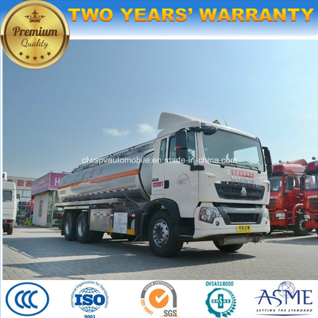 HOWO 20 Tons 25 Tons Tanker Truck 20000 L, 25000 Liters Fuel Tank Truck for Sale