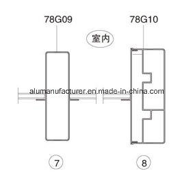 78g Series Sash Aluminium Alloy Extrusion Profile for Door and Window