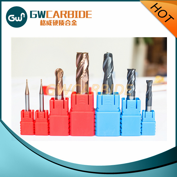 Carbide Standard Square End Mill with 4 Flutes Made in China