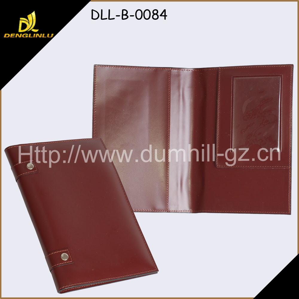 High Quality New Fashion A5 Size Leather Portfolio