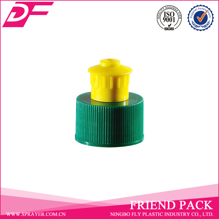 Plastic Screw Bottle Lid Push Pull Cap