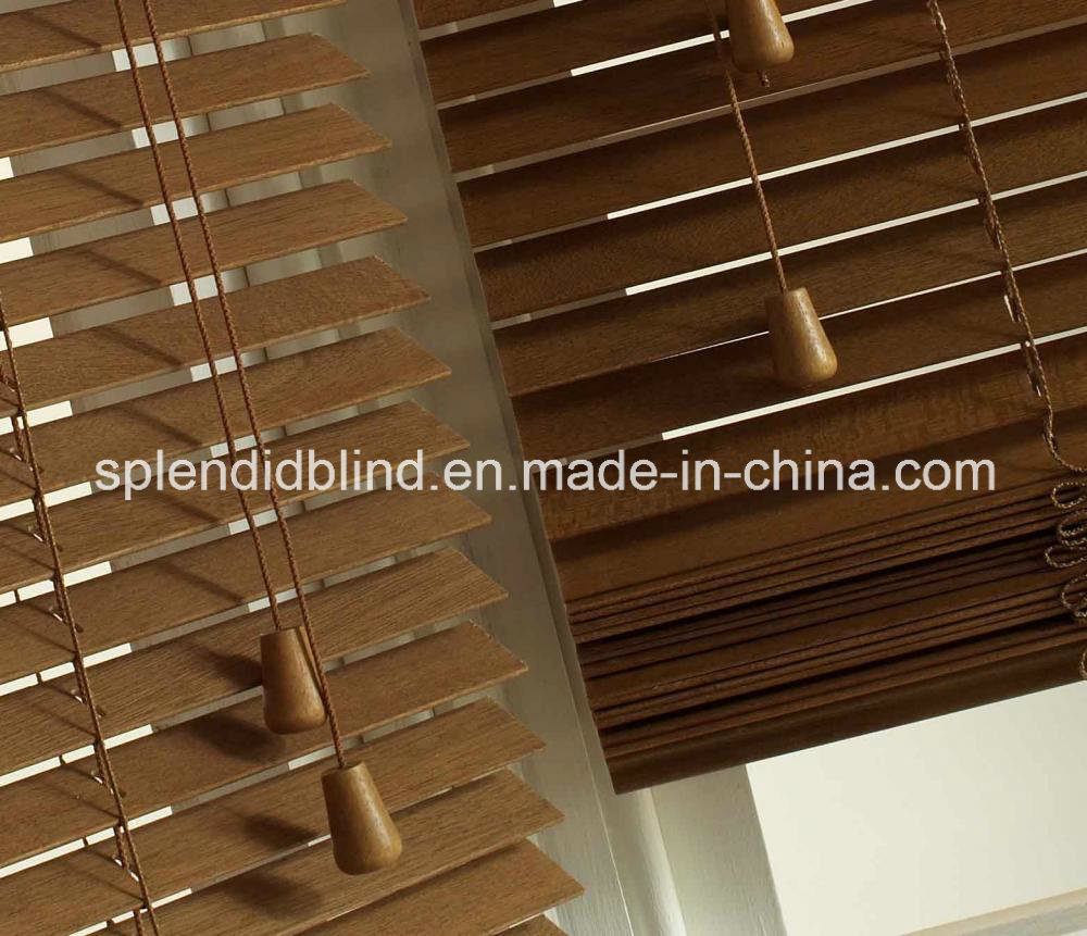 50mm High Profile Headrail Wooden Blinds (SGD-W-6514)