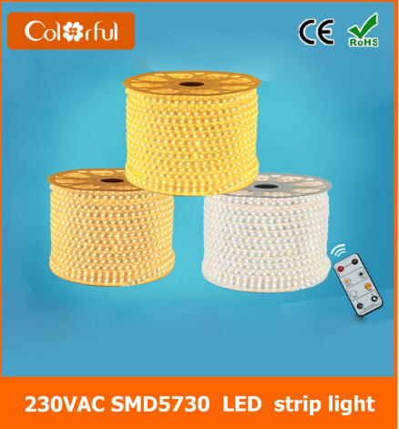 Ce RoHS 120LEDs/M AC220V Flexible SMD5730 LED Strip Light