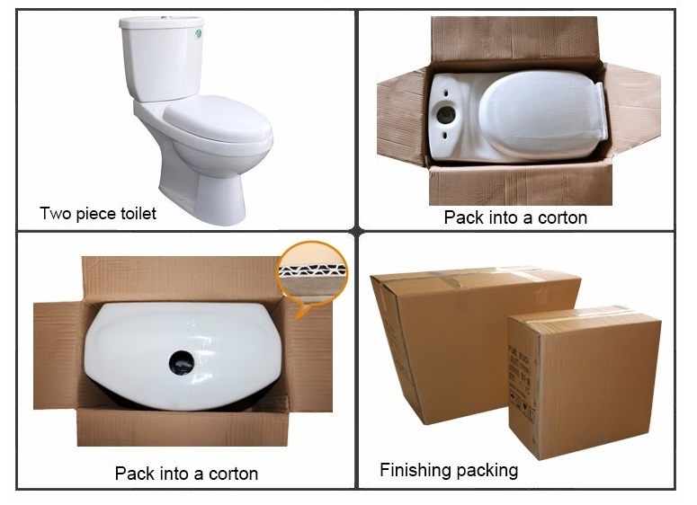 839 Economic Water Closet Wash Down Two Piece Ceramic Toilet