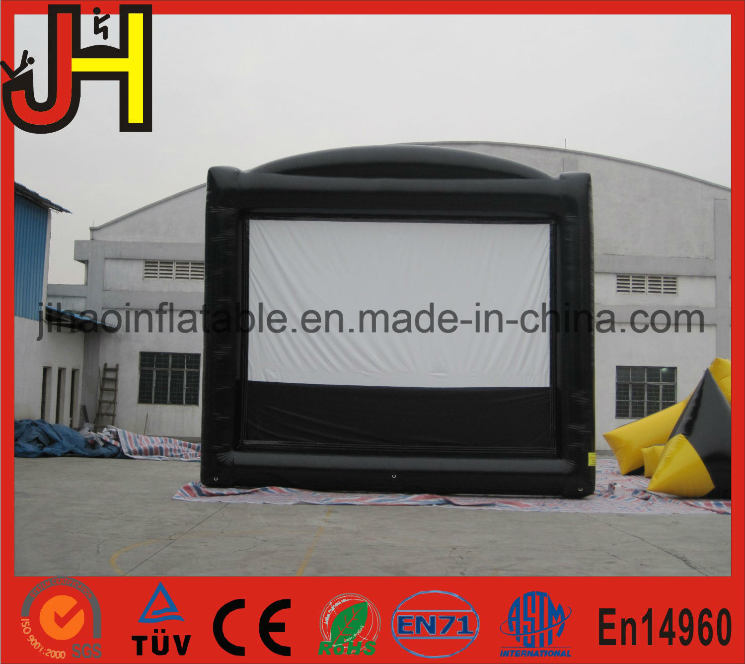 Durable PVC Projector Screen Outdoor Inflatable Advertising Movie Screen