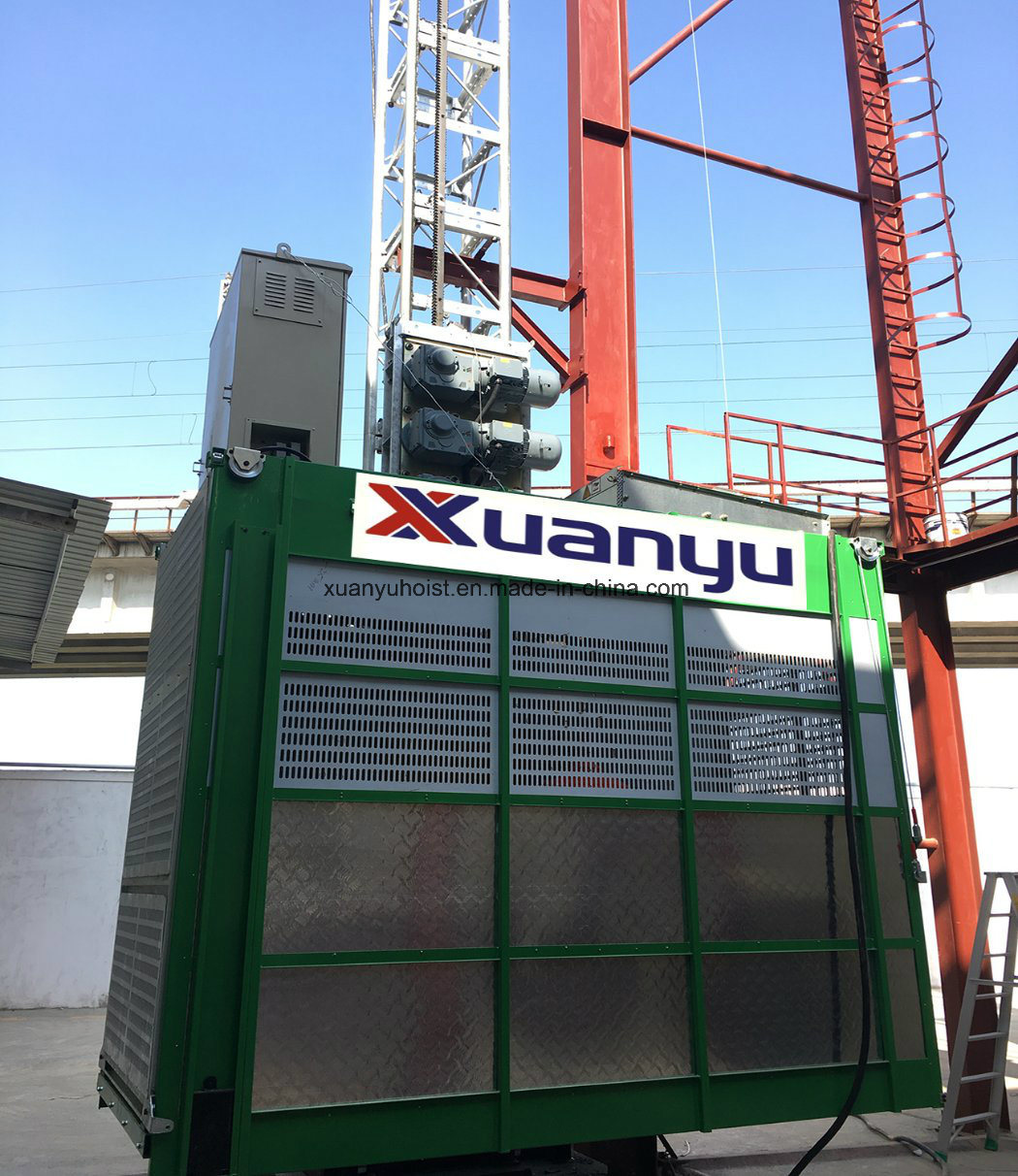 Sc Xuanyu Construction Hoist/Construction Site Rack and Pinion Elevator