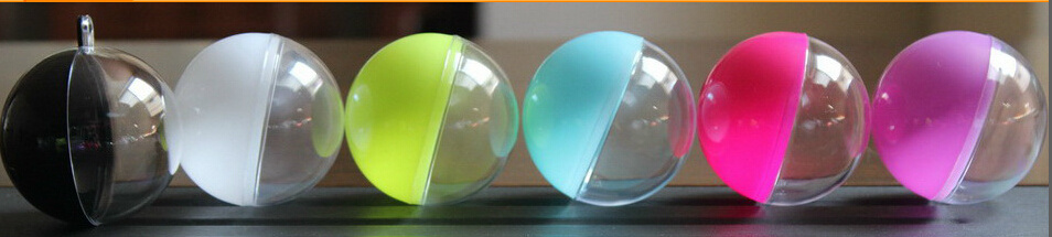 Ball Shape Clear Plastic Box, for Christmas/Candy, with Ribbon