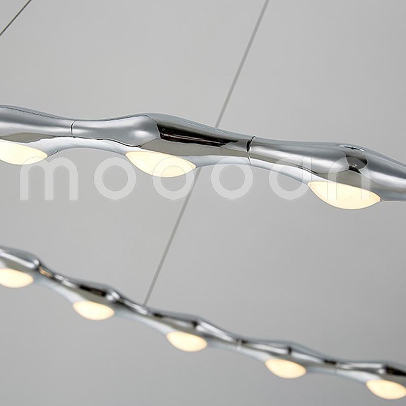 Modern Rose Gold Round Ring Aluminium Pendant Lamp for Living Room