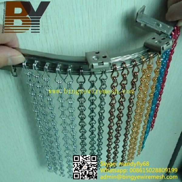 Aluminium Decorative Fly Insect Divider Window Door Chain Curtain Screen