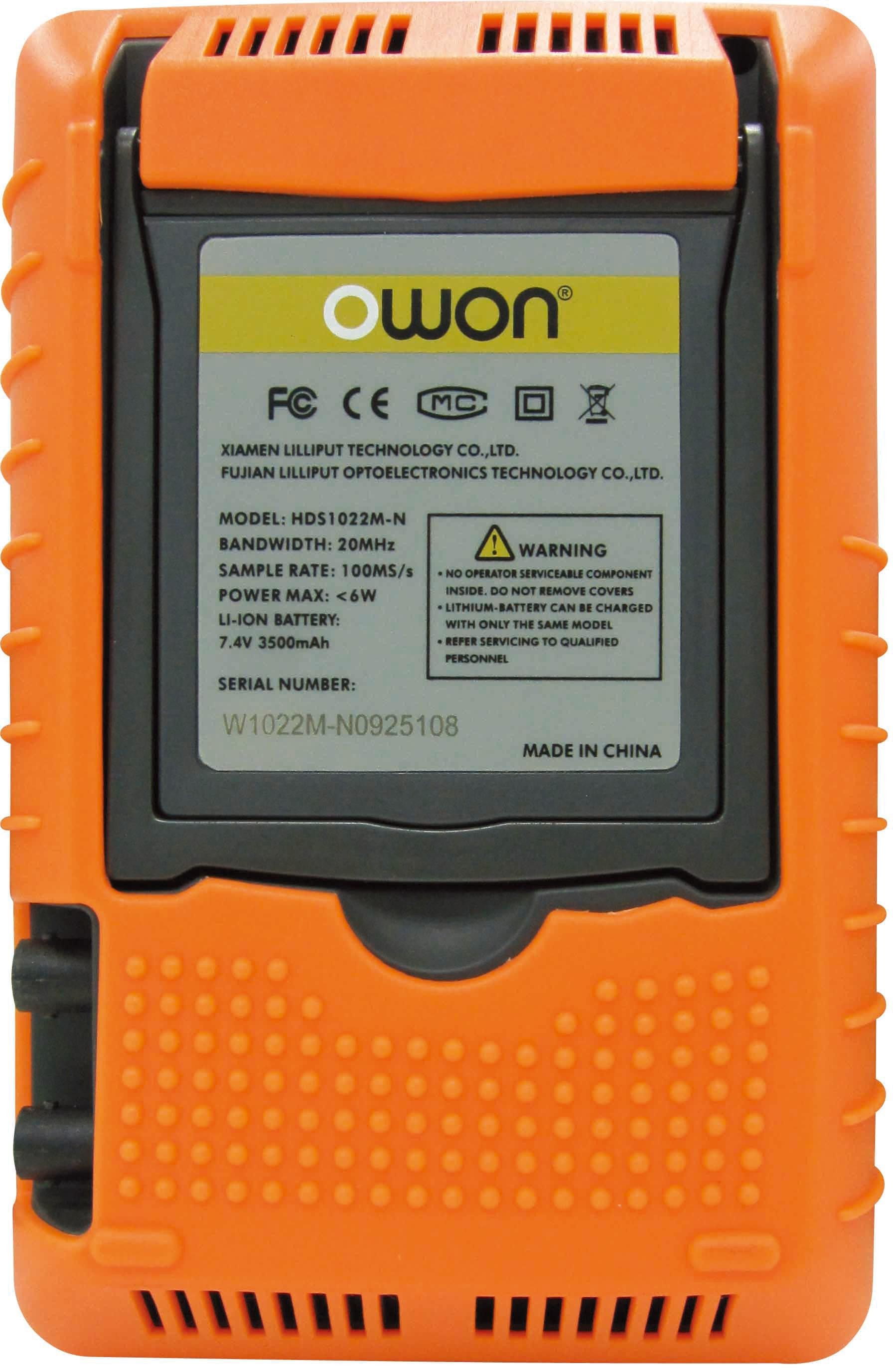OWON 100MHz Dual-Channel Handheld Digital Oscilloscope (HDS3102M-N)