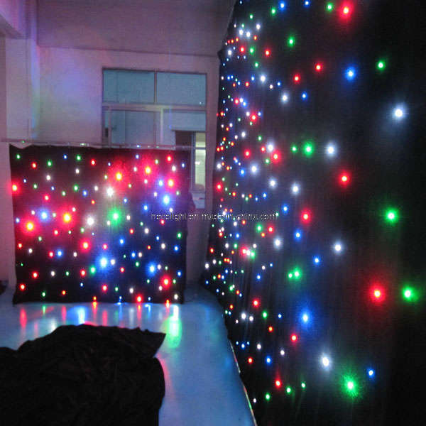 LED Star Cloth Star Curtain Light Wedding Backdrop Curtain 4mx6m