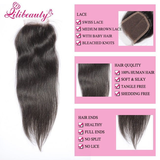 Promotion Price Human Hair All Hand-Tied Brazilian Lace Hair Closure