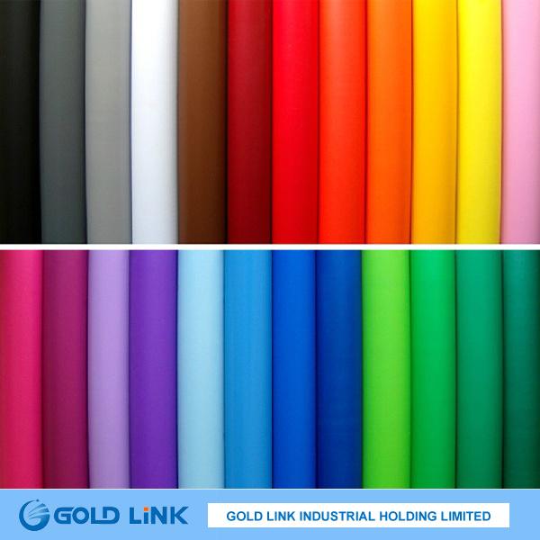Self Adhesive Colored PVC Sticker Film (P6303-R Y BL GR)