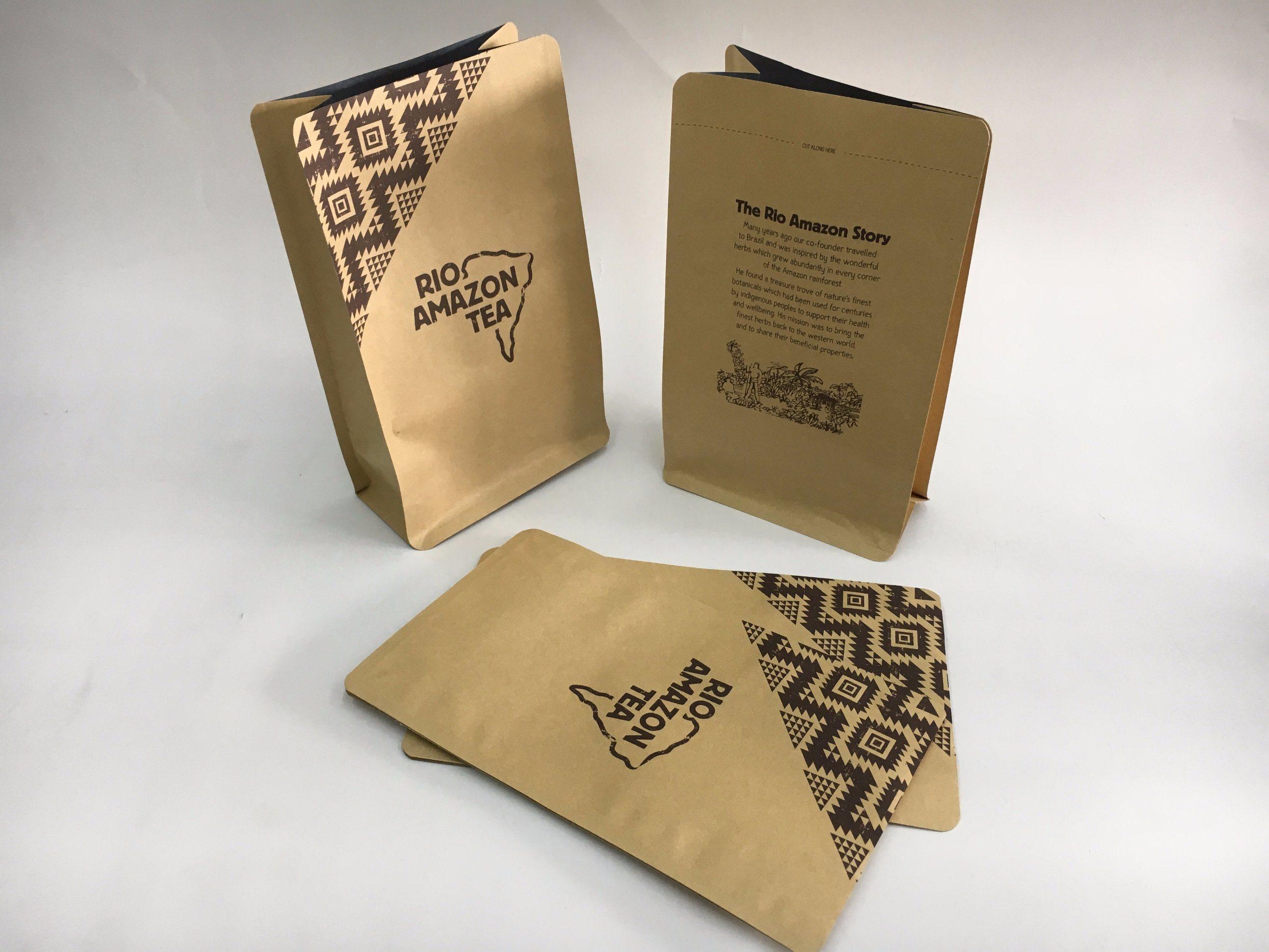 Stand up Ziplock Paper Tea Bag