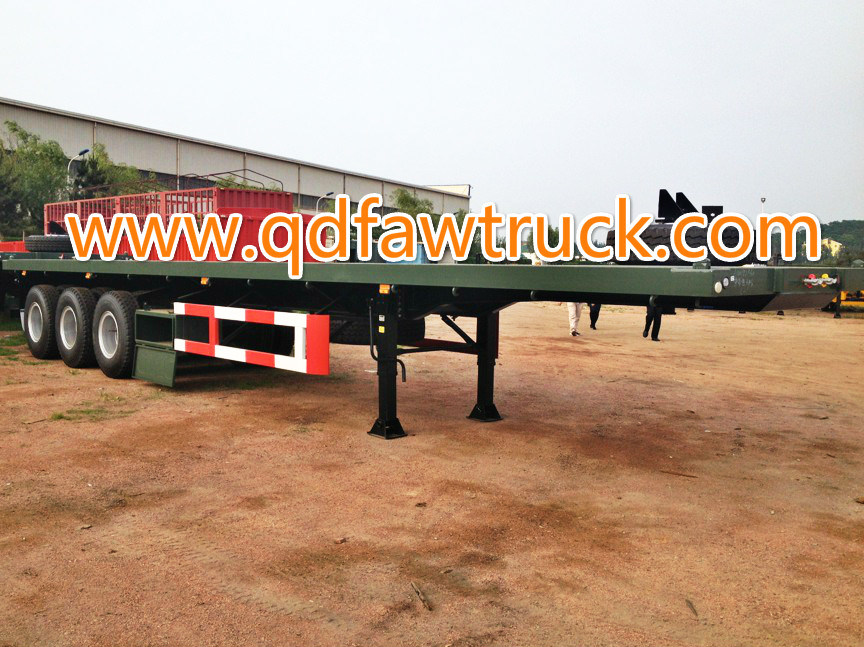 40FT Tri-Axle Flatbed Semi Trailer Container Trailer